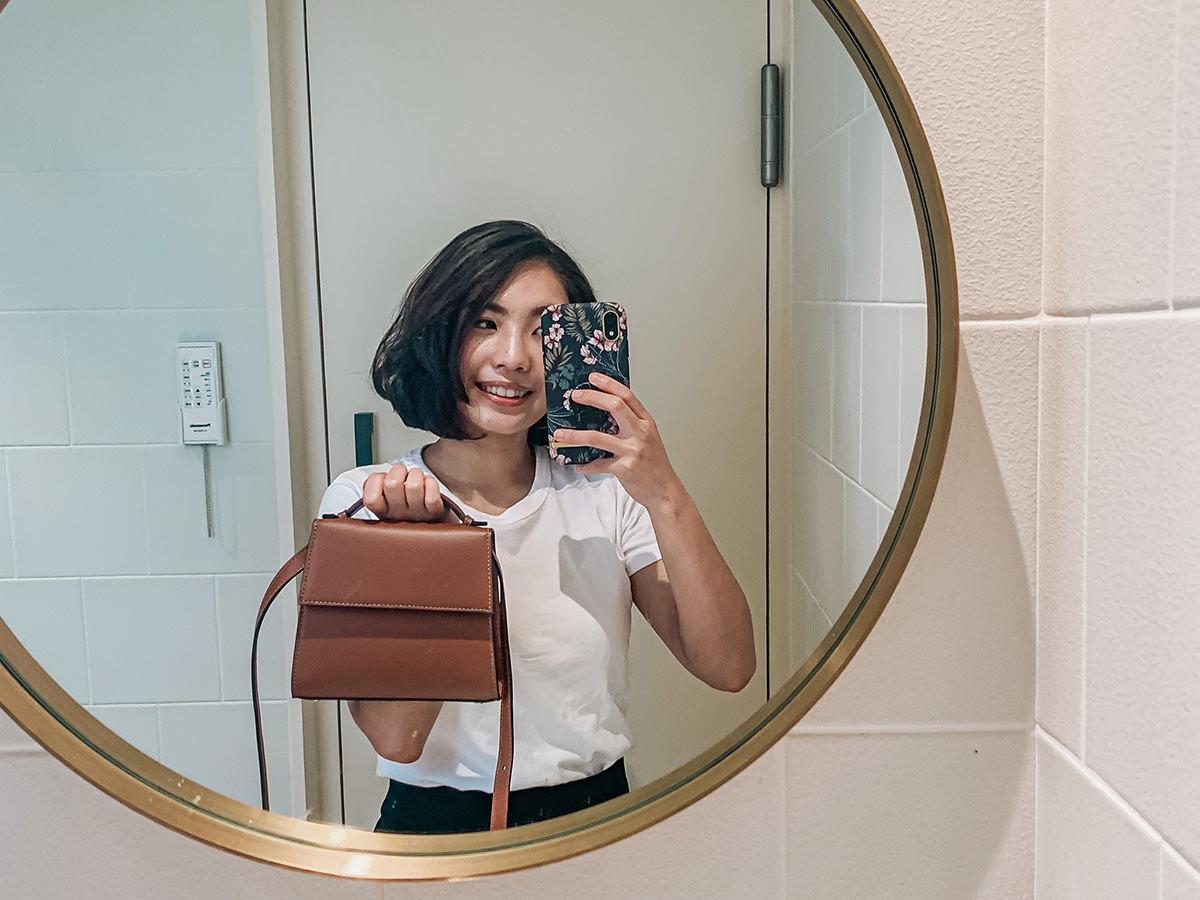 【Unboxing】小眾輕奢包款 Hunting Season Top Handle Leather Bag開箱~一咖適合小資女入手的低調、不撞包包款!