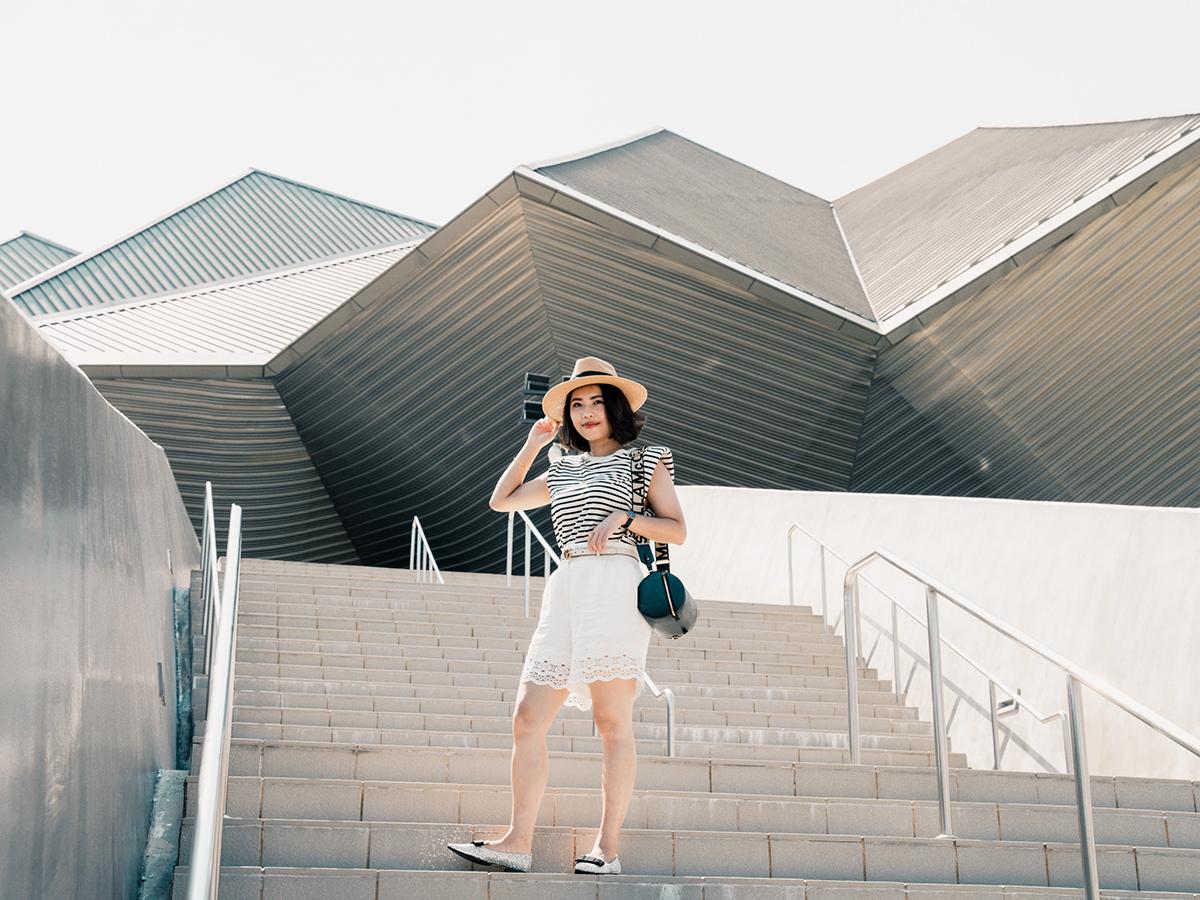 【Outfit】台北流行音樂中心好好拍!分享Sandro Paris蕾絲短褲實穿、Jimmy Choo Gala亮片平底鞋、Chloe Poppy sunglasses墨鏡好價格!