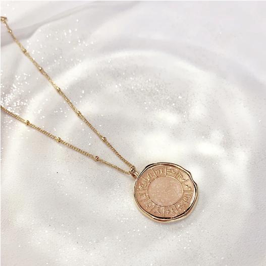 Zodiac Enamel Gold Necklace