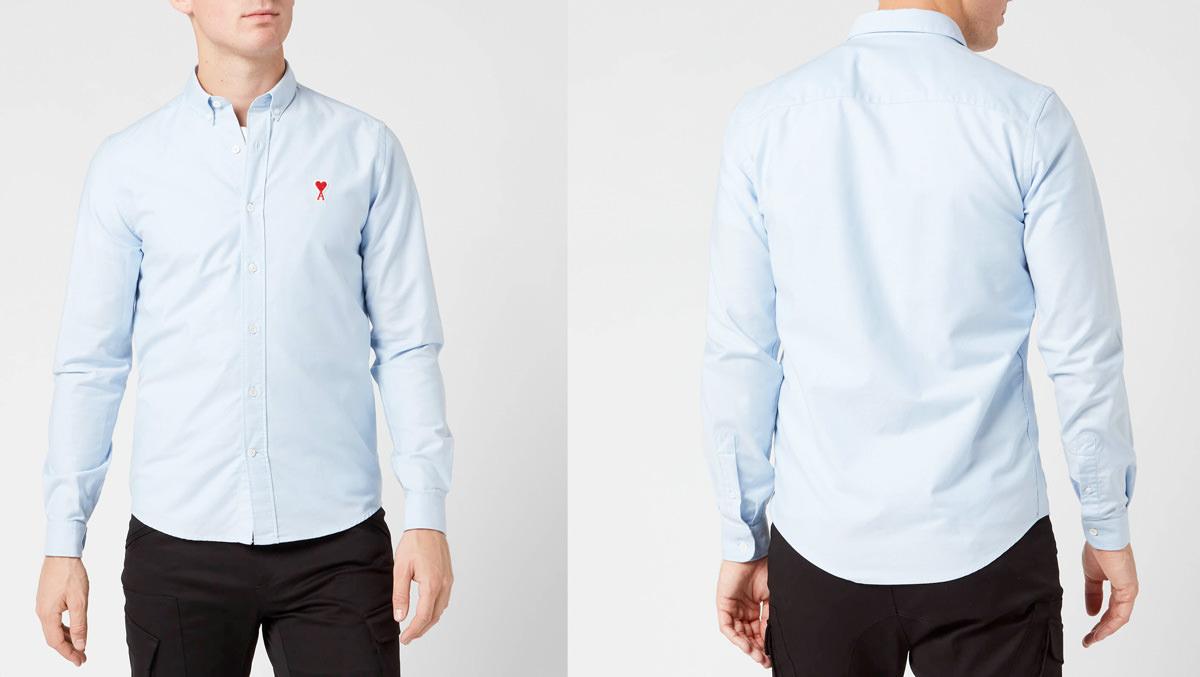 AMI Men's Boutonne Shirt - Light Blue