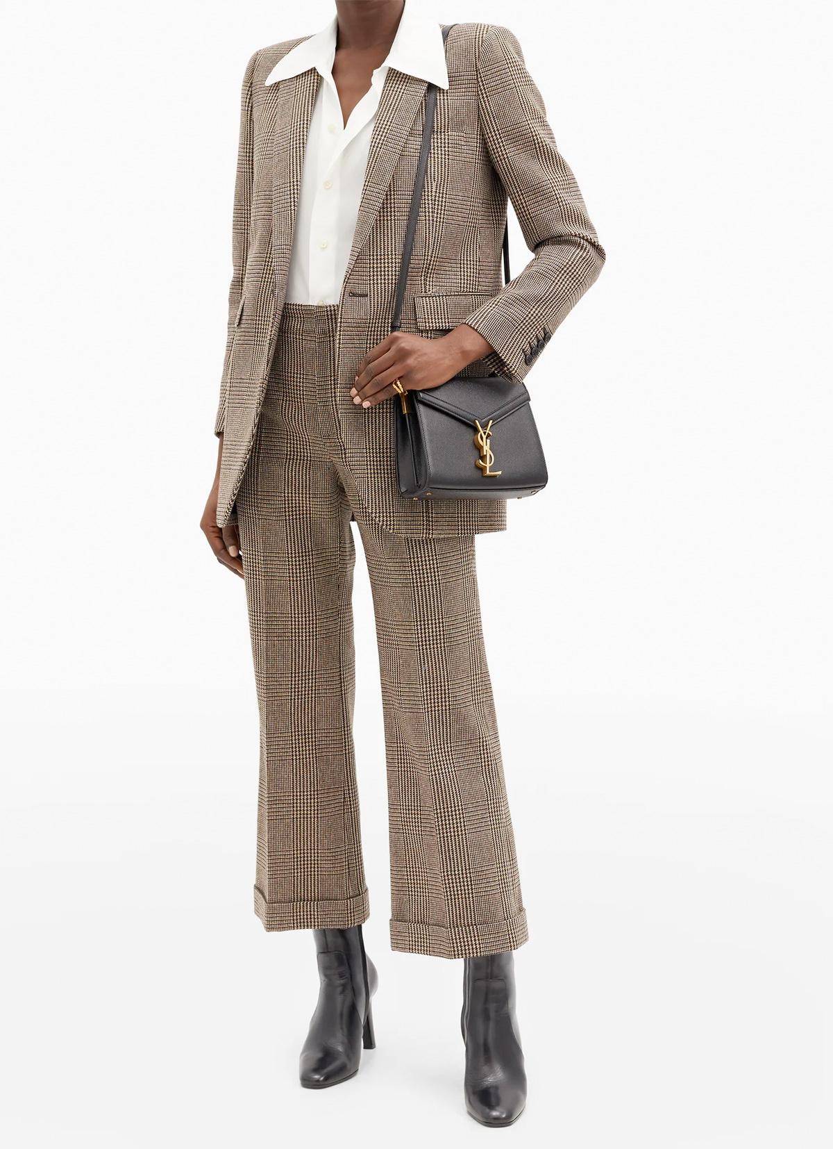 Saint Laurent Cassandra mini YSL grained-leather cross-body bag
