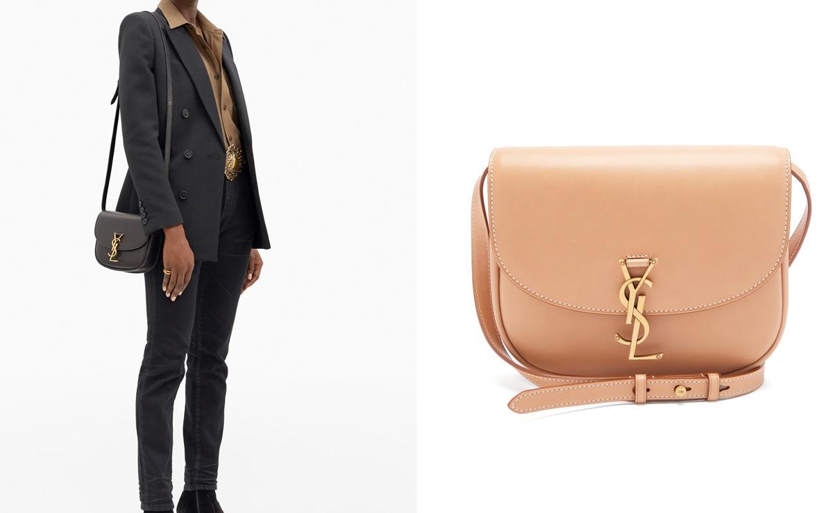 Saint Laurent Kaia small YSL-plaque leather cross-body bag