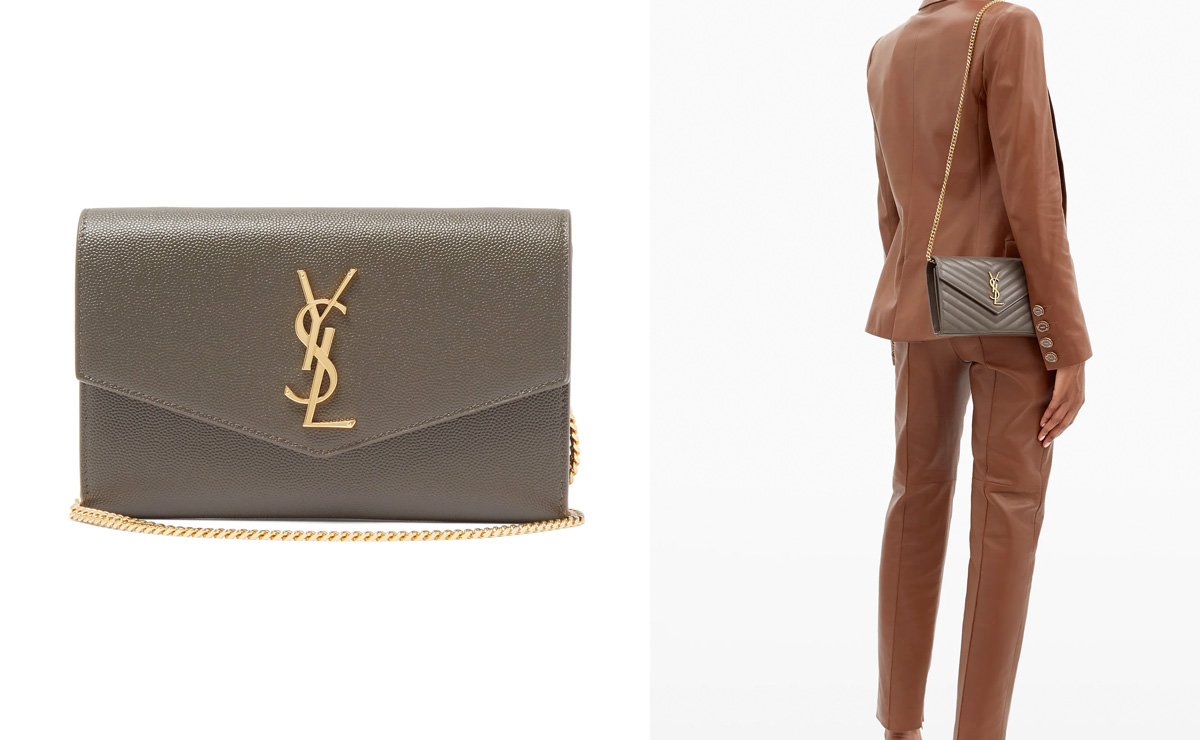 Saint Laurent Quilted-leather envelope cross-body bag