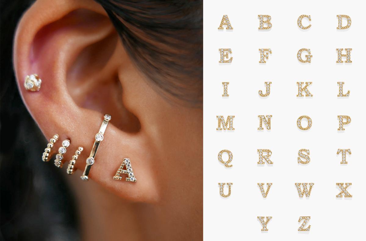 Bernie alphabet piercing