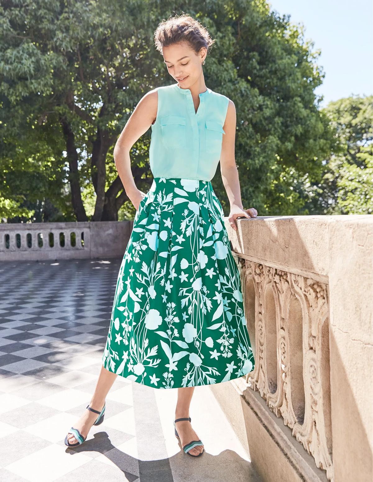 Theodora Pleated Skirt