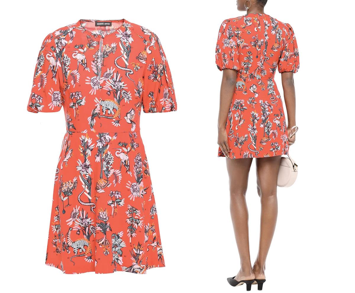 MARKUS LUPFER Jessie floral-print woven mini dress