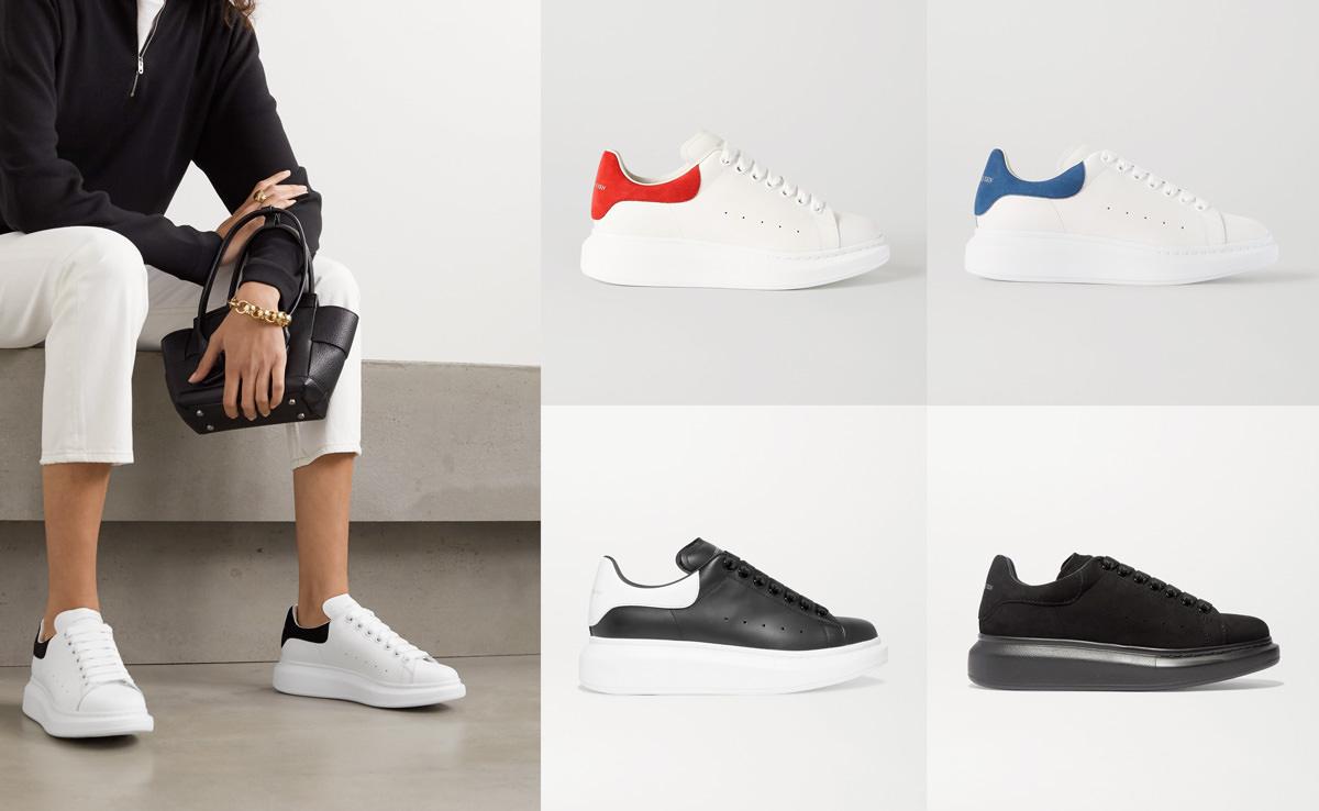 Alexander McQueen Suede exaggerated-sole sneakers