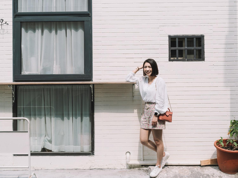 高雄旅行穿搭/春天的小碎花短褲Sezane Rome Shorts + Manu Atelier Micro Bold,姐妹小旅行第一彈!