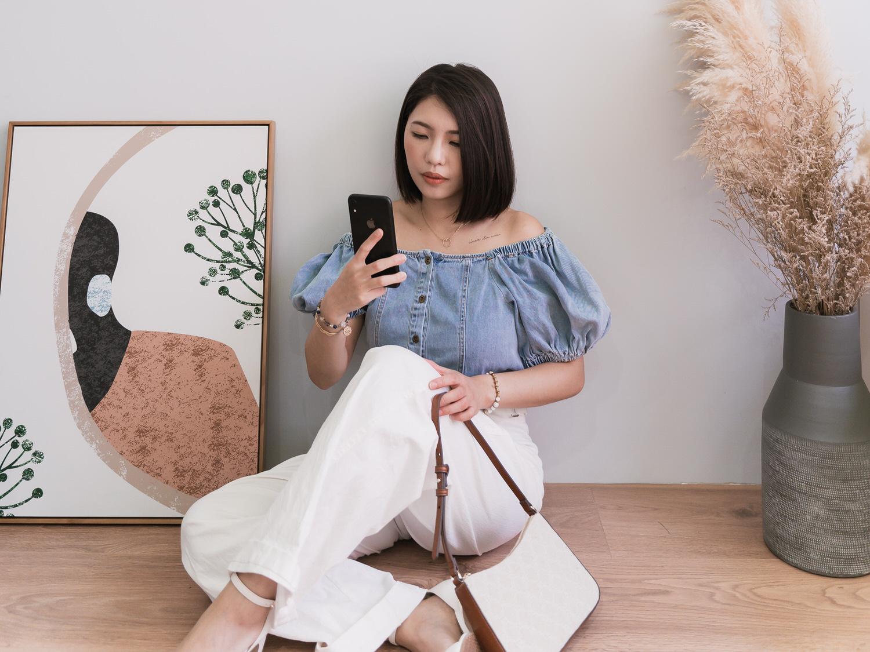 小個女寬褲穿搭分享!淘寶Jojo Collective白色落地褲2套穿搭❤️