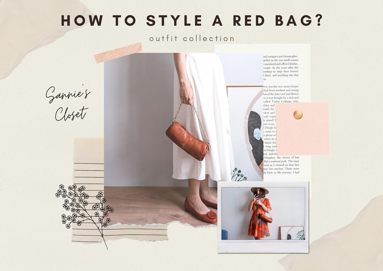 Manu Atelier Mini Cylinder 一咖紅色の圓桶包!5套上班族週間穿搭 x 紅色包包搭配分享
