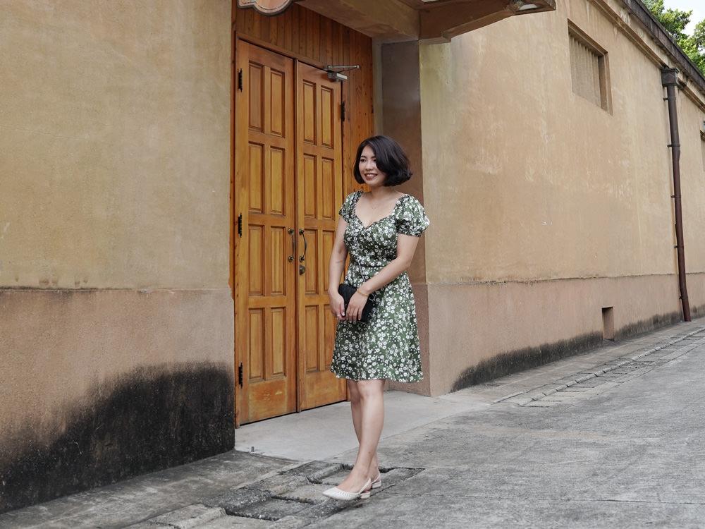 【Outfit】Petite Studio Maisy Dress 小碎花綠色洋裝實穿來啦!