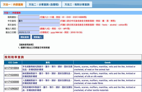Screenshot_2020-02-15 稅則稅率綜合查詢作業(GC411)
