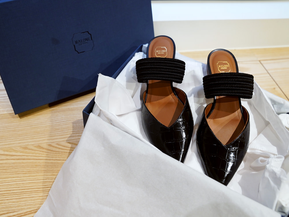 【Unboxing】Malone Souliers  Maisie leather mules開箱~一雙經典的穆勒鞋